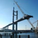Rügenbrücke im Bau