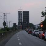 Stau auf dem alten Rügendamm