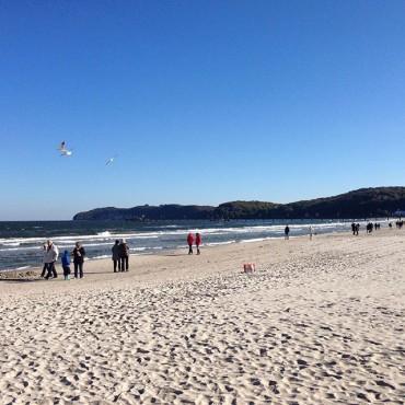 Sonniger Oktober am Strand