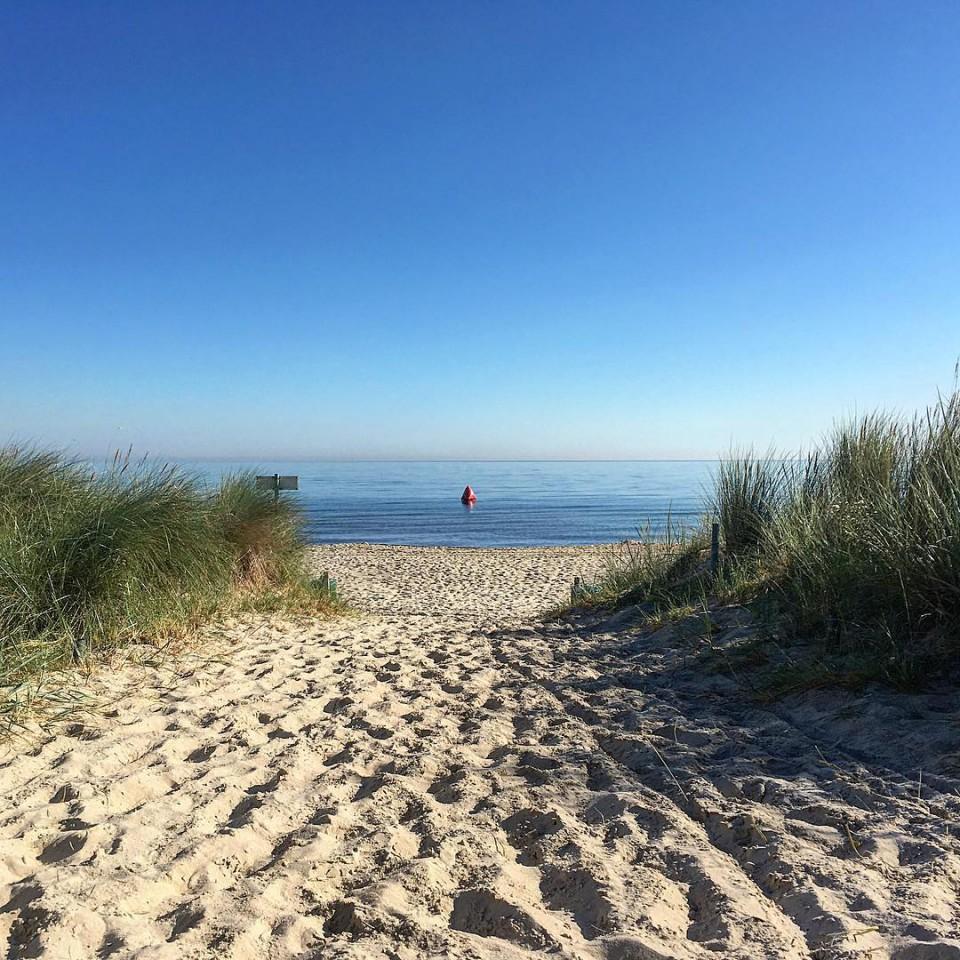 Guten Morgen vom Strand