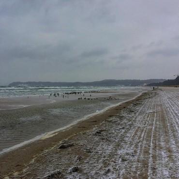 Eiskalt ❄️ am Strand