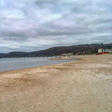 Ostseebad Binz. Endloser Strand